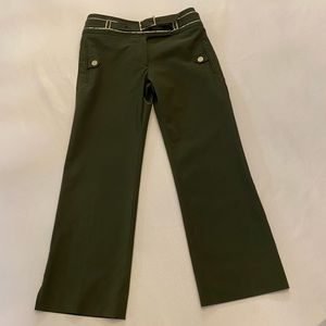 KAREN MILLEN Cropped Trousers with Belt, Size US 4